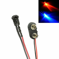 Alternating Red & Blue Small 3mm LED + Connector, Car, Boat Dummy Fake Alarm