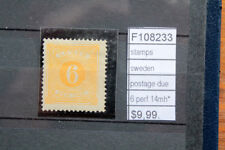 STAMPS SWEDEN POSTAGE DUE N°6 PERF.14 MH* (F108233)