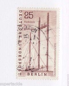 1956 Germany Sc #9N143 Θ used mute cds VF. Radio station, telecommunication