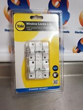Yale Locks YALV8K1184WE 8K118 Economy Window Lock White Finish Pack of 4 (M)