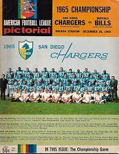 1965 San Diego Chargers- Bills AFL Championship Program Bills Blank Bolts NICE!!
