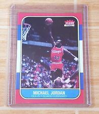 MICHAEL JORDAN 1986-87 Fleer #57 RC ROOKIE REPRINT REPRODUCTION NBA CARD
