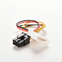 2 X PCI-E Graphic Card Power Connector Cable Adapter 4-Pin to 6-Pin Molex SP