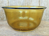 General Electric GE Amber Glass Mixing Bowl Vintage Mid-Century Modern Kitchen