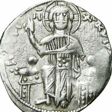 JESUS CHRIST / Andronicus II Michael IX Basilicon. Ancient Byzantine Silver Coin