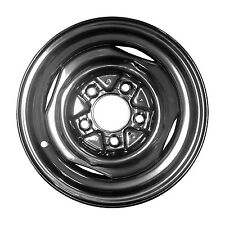 01163 Refinished 15in SILVER Steel Wheel Fits 1964-1989 Ford F-100 F-150 Silver