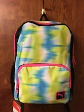 """Puma Girl's 15"""" Youth Laptop Backpack Blue/Yellow"""