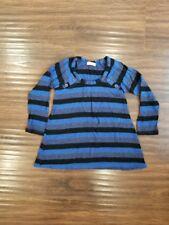 Size 2T Ella Moss Black Blue Striped Top Shirt Baby Girl Toddler