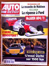 AUTO HEBDO 1021 du 14/02/1996; La revanche de Makinen/ McLaren MP4/11/ Spider