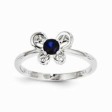 Sterling Silver Created Sapphire Ring Size 8 QBR24SEP-8 W15133