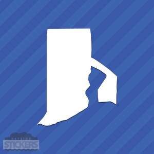 Rhode Island RI State Outline Vinyl Decal Sticker