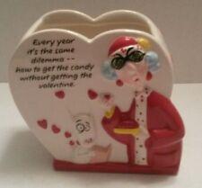 Maxine & Floyd Heart Vase Dish Hallmark Ceramic Gourmet Gifts Valentine Dilemma