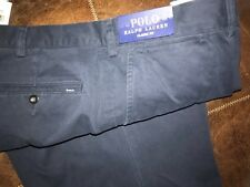 New polo Ralph Lauren men chino navy blue pants 44 X 36 tall