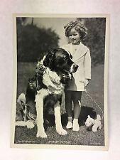 Shirley Temple 1937 Union Dresden Film Star Series 9 5 X 7 Cigarette Photo Card