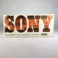 Original Vintage SONY Tape Recorder Microphone Accessories Superscope Catalog