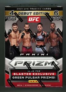 2021 Panini Prizm UFC BLASTER BOX *Debut Edition* FACTORY SEALED 6-Packs FREE SH