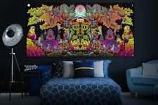 Trippy Blacklight Wall Art UV Active Sacred Backdrop Bohemian Wall Decor Spiritu
