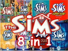 The Sims 1 original Complete Collection /w 7 expansions on 4 CDs PC Win7/8