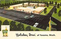 Tacoma Washington 1960s Postcard Holiday Inn Motel Artist Concept