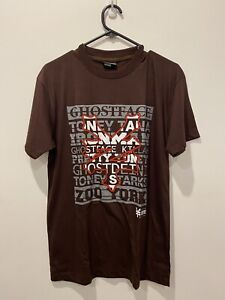 Mens Zoo York Tshirt Graphic Print Text Font Brown Brand New Size S