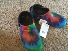 Crocs Unisex Bistro Graphic Clog.Tie Dye. New with Tags M5 W7 NWT