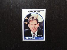 1989 1990 NBA Hoops Announcer Card Mark Boyle Pacers Promo Basketball Card