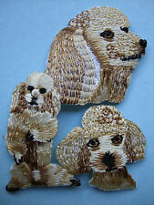 IRON-ON EMBROIDERED PATCH - POODLE #2 - MONTAGE - DOG