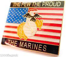 USMC United States Marine Corps The Few The Proud The Marines Flag Pin Badge *