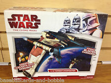 Star Wars Clone Wars 2009 V-19 TORRENT STARFIGHTER -  w/ Diorama MISB