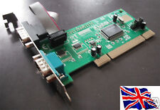 RS-232  2 port  Serial PCI Card  Mochip 9835