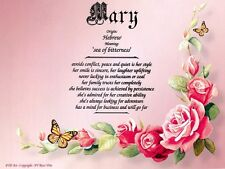 """""""Rose Vine"""" Name Meaning Prints Personalized (Floral, Love, Roamnce)"""