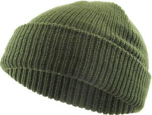 Warm Winter Knit Cuff Beanie Cap Fisherman Watch Cap Daily Ski Hat Skully