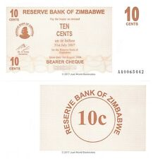 Zimbabwe 10 Cents 2006  P-35  First Prefix 'AA'  Banknotes UNC