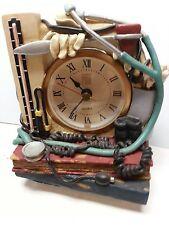 New MD Medicine Medical Books Instruments Theme  -  Resin Desk Shelf Gift Clock