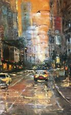 Orange Sky NY by Elena Bond (Fine Art on Canvas Painting)