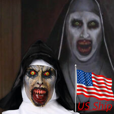 The Nun Valak Mask New Cosplay The Conjuring Scary Mask Halloween Horror Props
