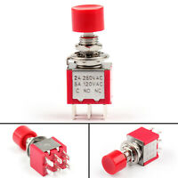PS-202 Button Toggle Switch Round Self-Reset With Cap 6 Pin 2 Position 6mm Push