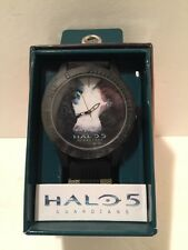 Halo 5 Guardians Large Face Men's Black Watch In Gift Box by Accutime NEW