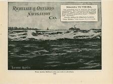 1904 Richelieu & Ontario Navigation Ad Steamer Cruises Thousand Islands Saguenay