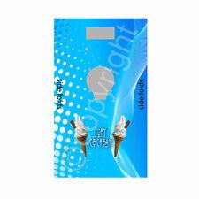 ice cream van machine sticker,blue grid design van one