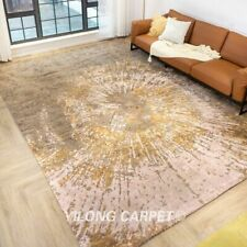 Yilong 10x14ft Modern hand knotted wool carpet Oversized Villa area rugs P2084