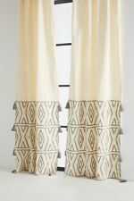 Anthropologie Embroidered Devanne Curtain-50 x 84