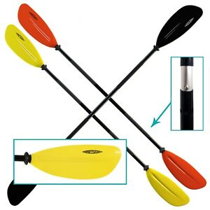Conwy Kayak 2 Piece Paddle Floating Asymmetrical Aluminium Red Black Yellow