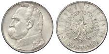10 ZLOTYCH 1939 POLONIA POLAND ARGENTO SILVER #1072A