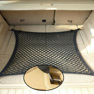 80*60CM Rear Trunk Boot Floor Cargo Net Luggage Organizer Elastic Mesh Car