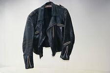 Vieux noir Blouson moto Veste en cuir Voiture ancienne 60ties Années