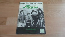 POISON - EVERY ROSE HAS IT'S THORN  (RARE SHEET MUSIC)