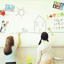Self Adhesive Wall Whiteboard Decal Sticker Dry Erase Draw Board School 24