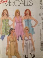 McCalls Sewing Pattern 5139 Misses / Ladies Halter Tops Size 12-18 Uncut