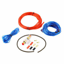 800W 8GA Car Audio Subwoofer Amplifier AMP Wiring Fuse Holder Wire Cable Kit IB